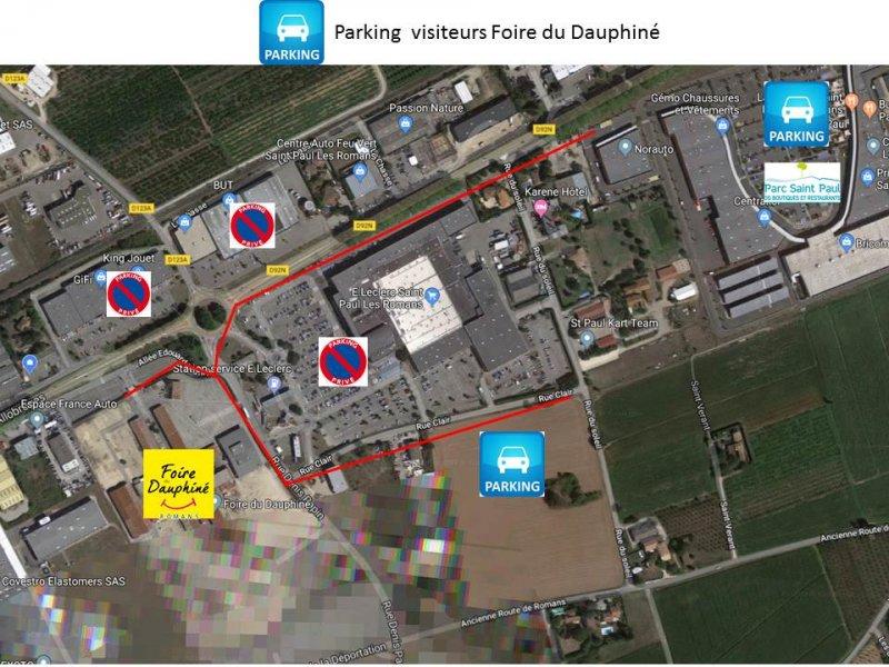 parking visiteurs foire du dauphiné